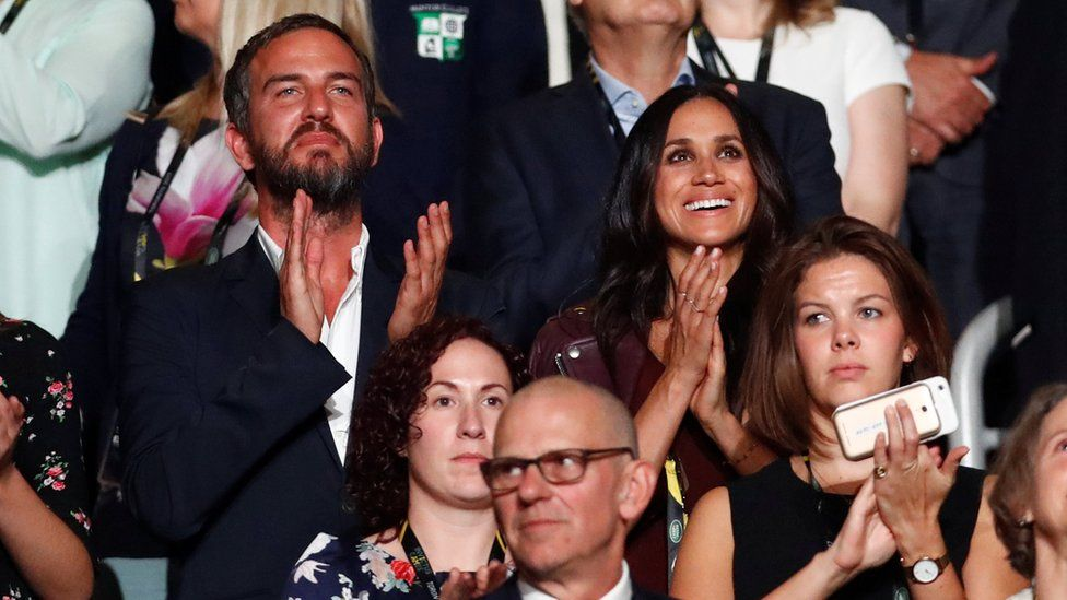 Meghan Markle watches the opening ceremony for the Invictus Games in Toronto