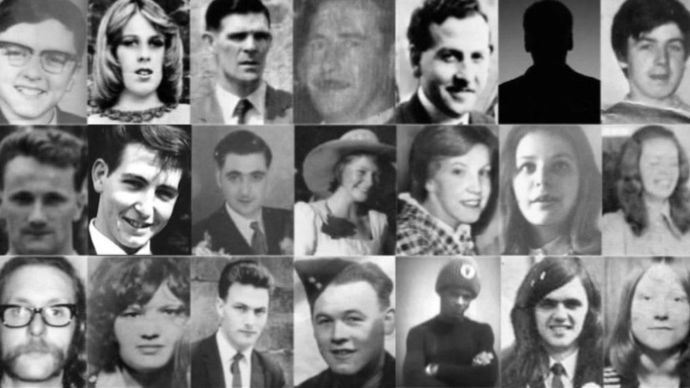 Pictures of people killed in Birmingham pub bombings