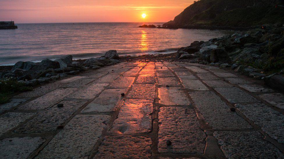 Sunrise at Botney Bay in Stonehaven.