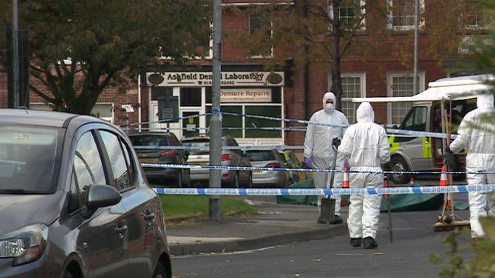 Forensic staff at Langton Road