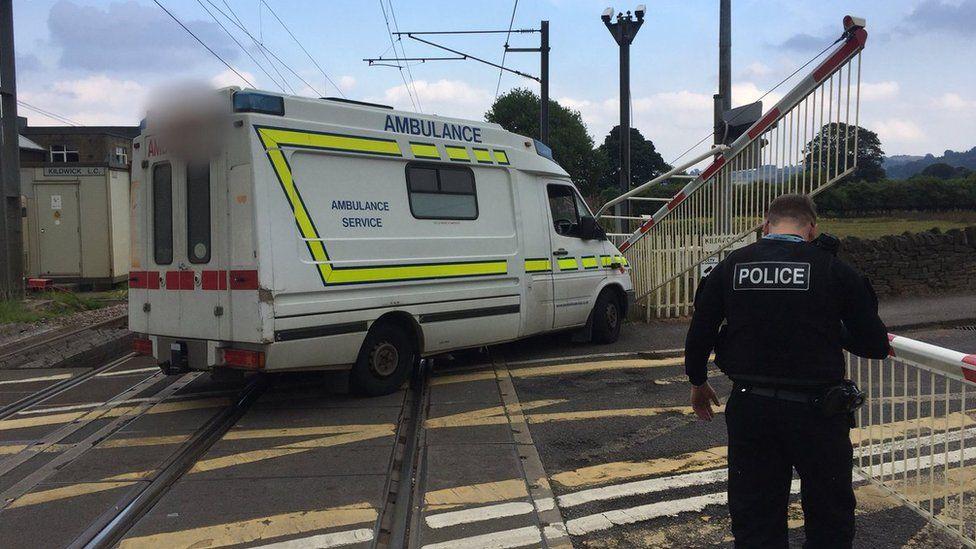 The decommissioned ambulance