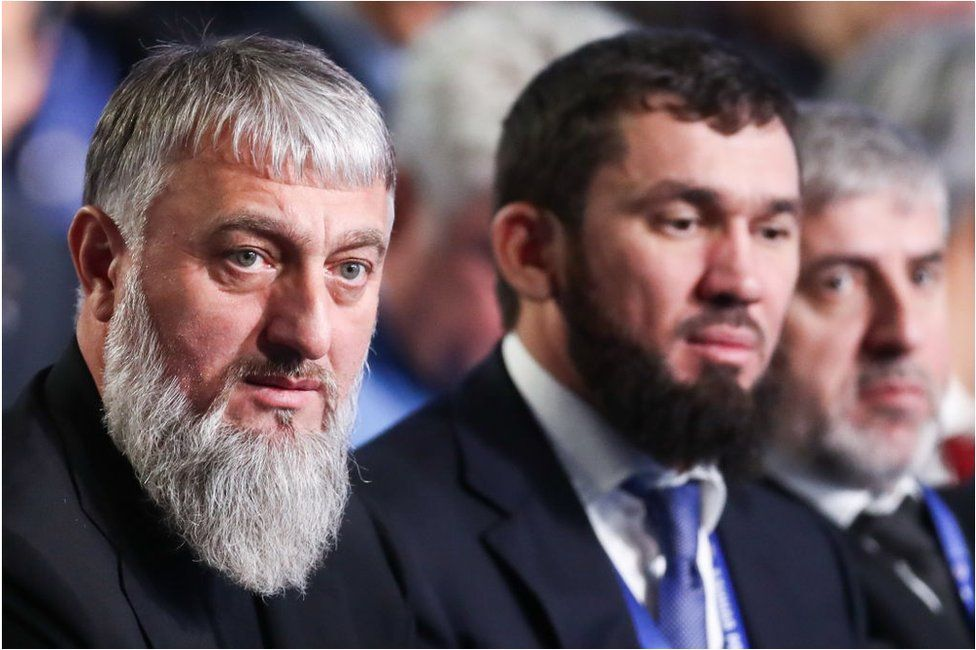 Adam Delimkhanov (left) and Magomed Daudov