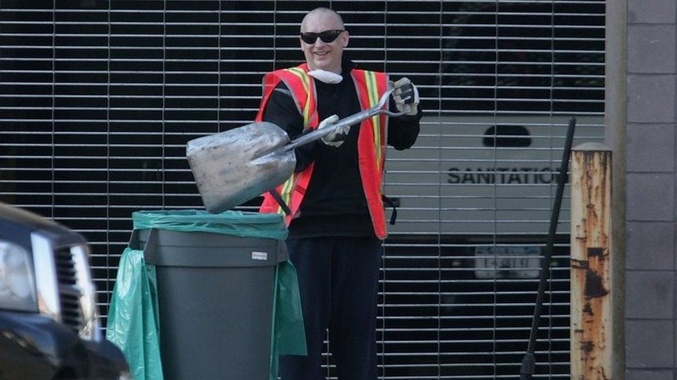 Boy George doing his community service in New York in 2006