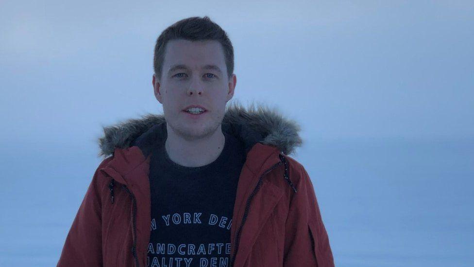 James Saye in Iceland