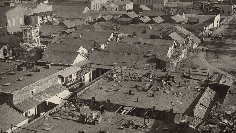San Jose Chinatown just before fire of 1887