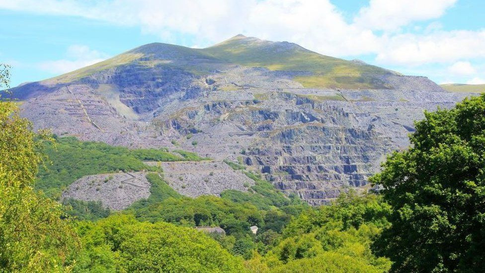 Dinorwig quarry above Llanberis