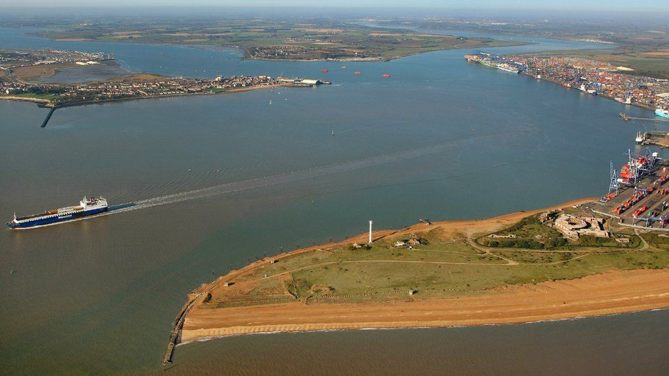 Harwich Harbour from the air