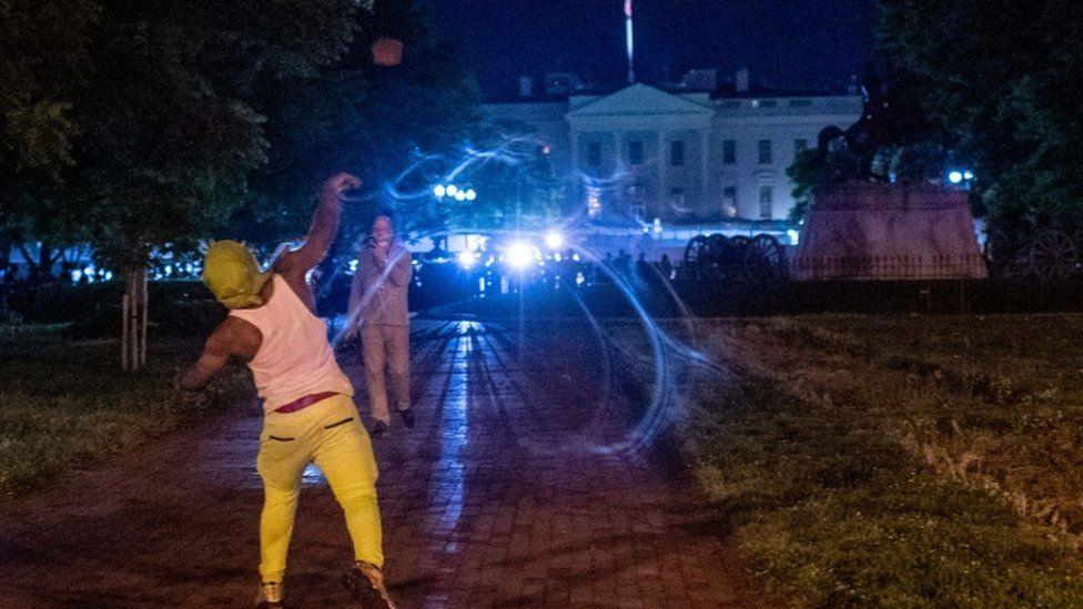 Protests continued outside the White House overnight