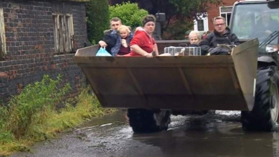 People being evacuated from Wainfleet