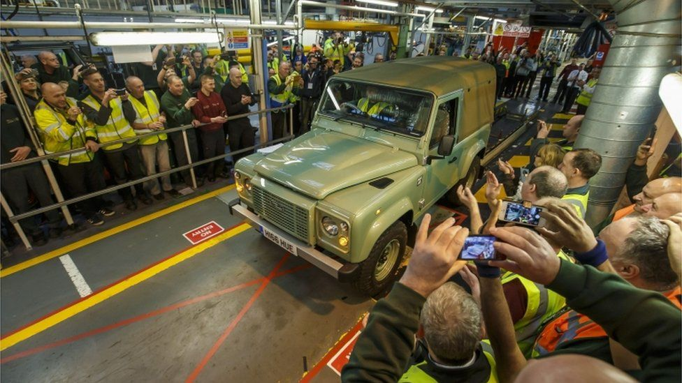 Land Rover Defender Solihull Production Ends Bbc News