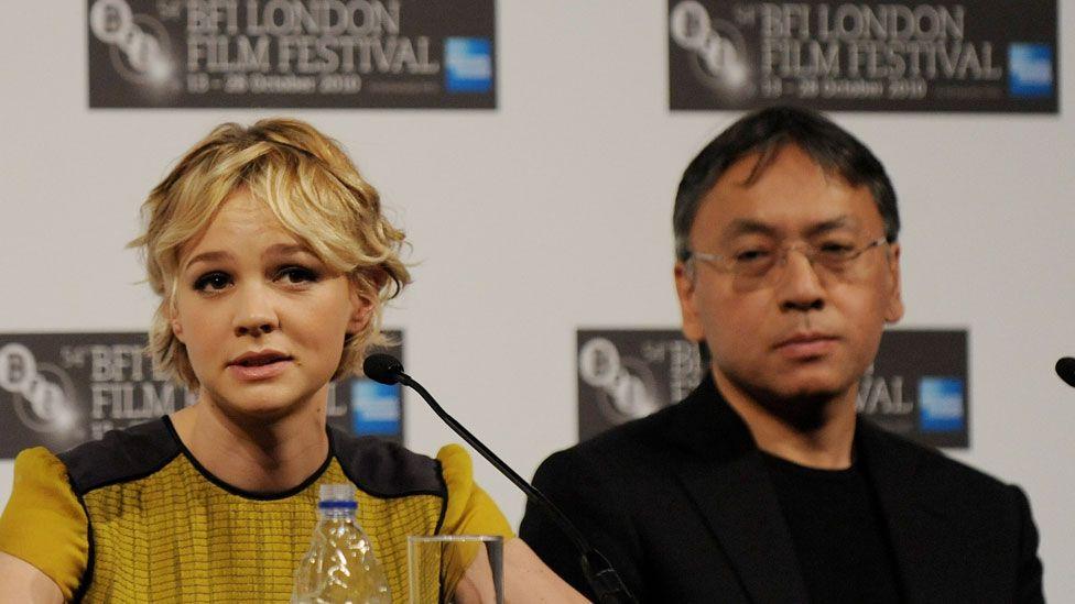 Carey Mulligan and Kazuo Ishiguro