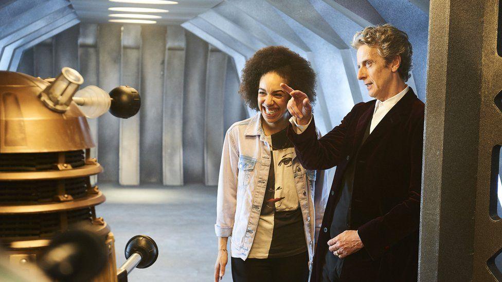 Peter Capaldi and Pearl Mackie