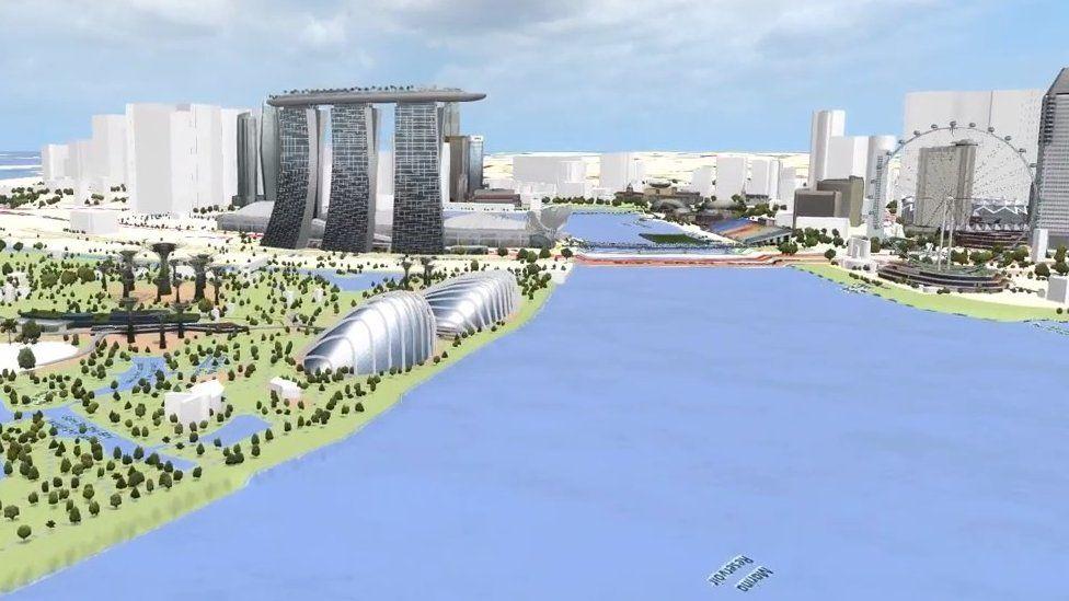 Virtual view across the bay