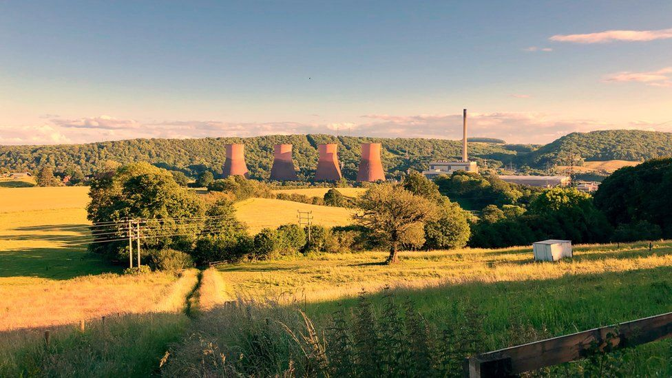 Ironbridge Power Station from Coalbrookdale