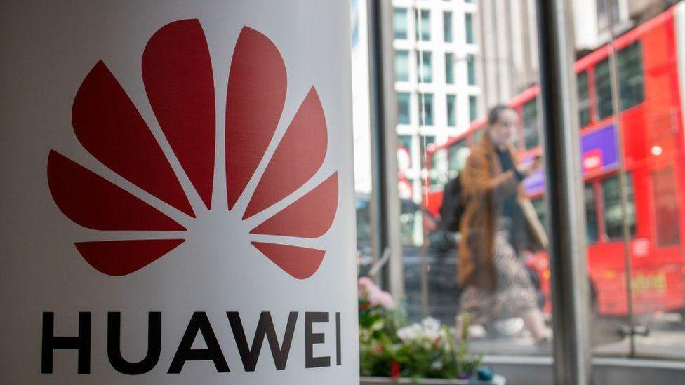Huawei logo, London bus