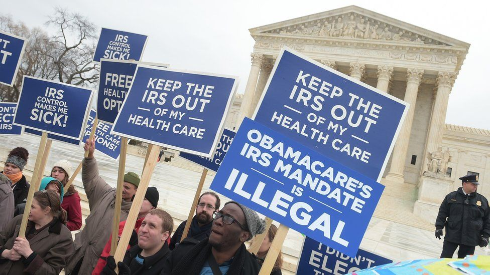 In 2015, Obamacare opponents rallied outside the Supreme Court