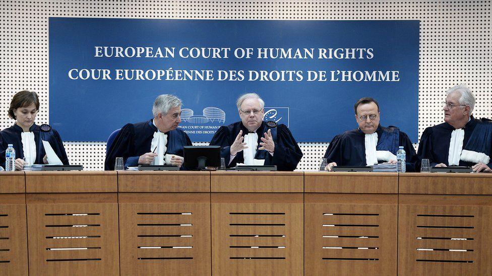Judges of the European Court of Human Rights (ECHR) in Strasbourg, 27 Nov 13