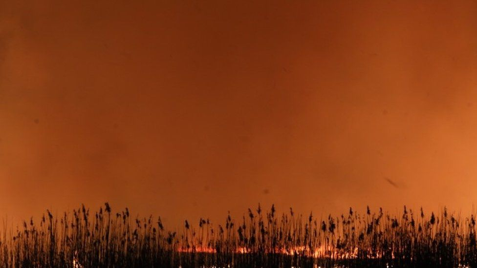 Fires in Poland