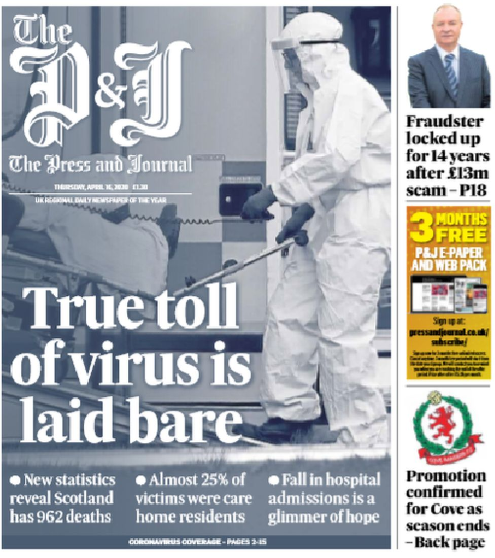 Press and Journal front page