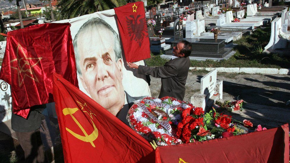 Enver Hoxha grave in Tirana