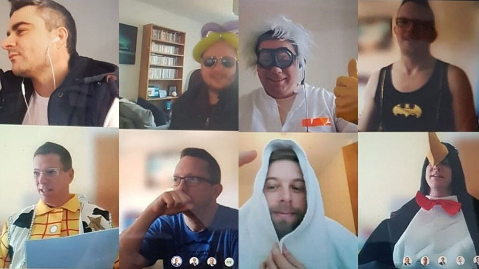 Complete IT senior management meeting in fancy dress