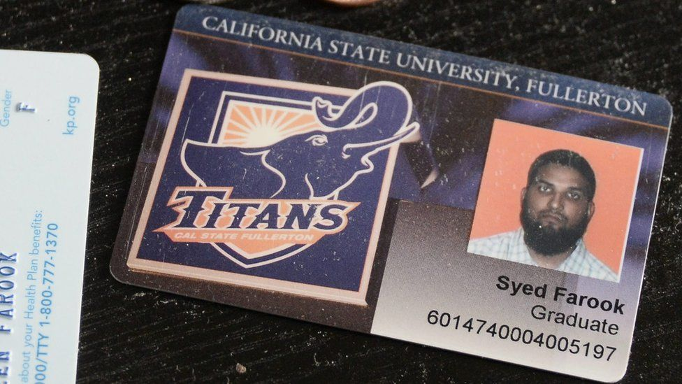 A university ID card belonging to one of the suspects in the San Bernardino shootings