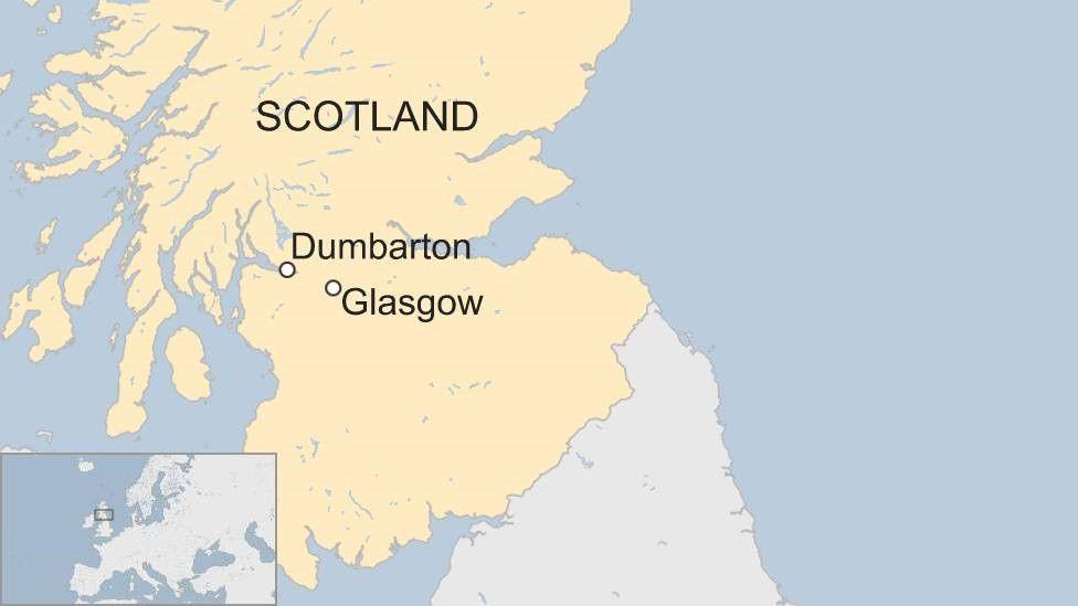 Map of Dumbarton