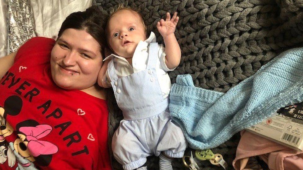 Bethany Fanthom with her son Freddie