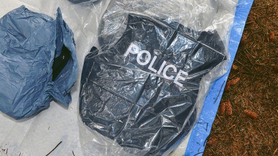 Police vest in hide
