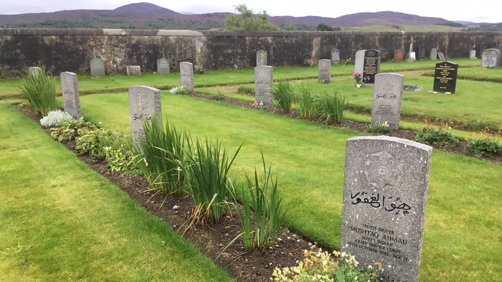Graves at Kingussie Cemetery