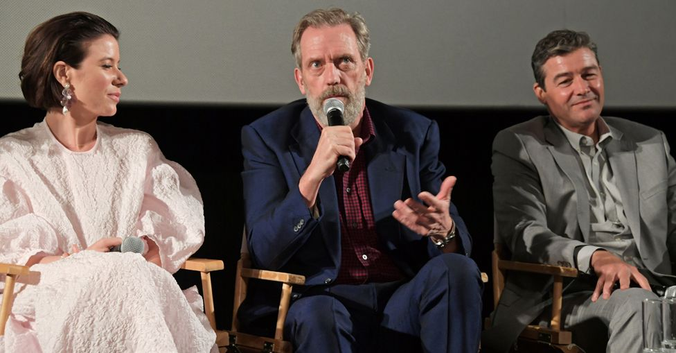 Tessa Ferrer, Hugh Laurie and Kyle Chandler