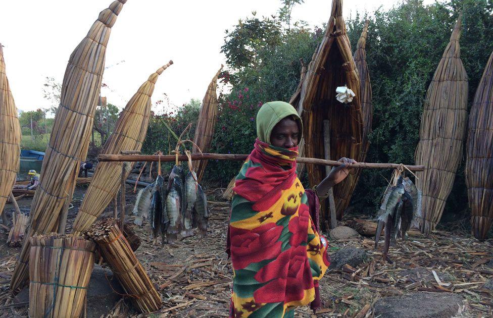 Fisherman in Blue Nile