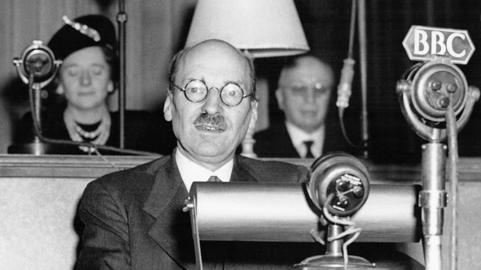 Picture of Labour Prime Minister Clement Attlee in 1945