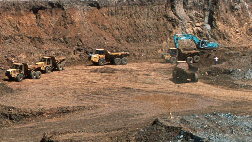 A goldmine quarry in Tanzania
