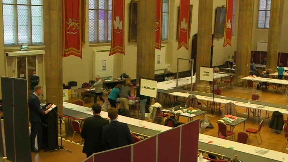 Norwich City Council election count