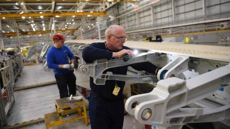 Airbus factory in Broughton