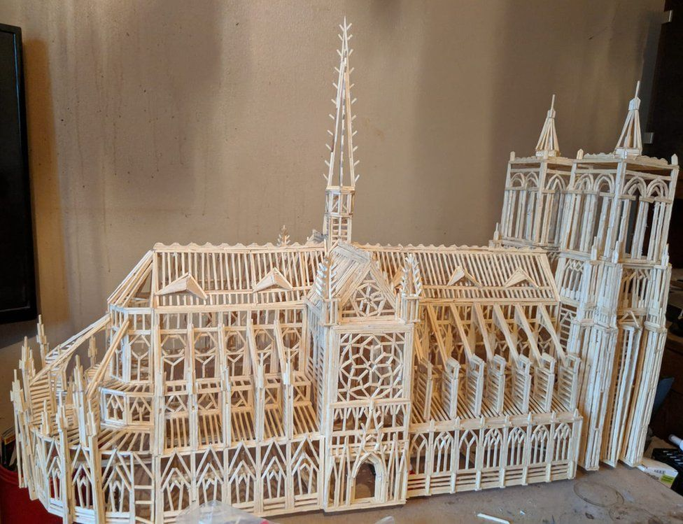 Matchstick Notre Dame Cathedral