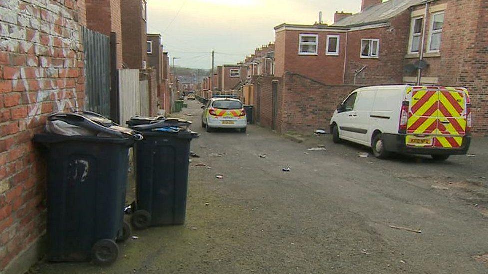 Gateshead murder scene