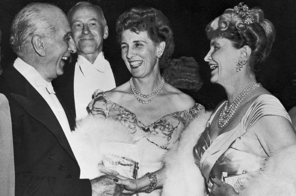 Tydings' grandfather, Joseph Davies with wife Marjorie Merriweather Post (right),