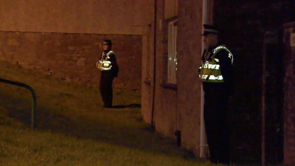 Police at scene in Ogmore Vale