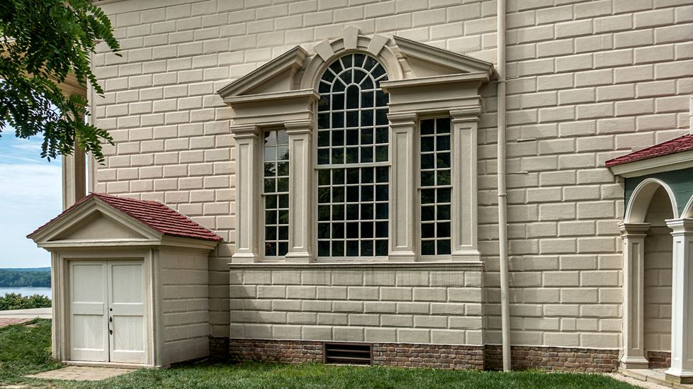 Detail of Mount Vernon window, Virginia, USA - building completed 1778