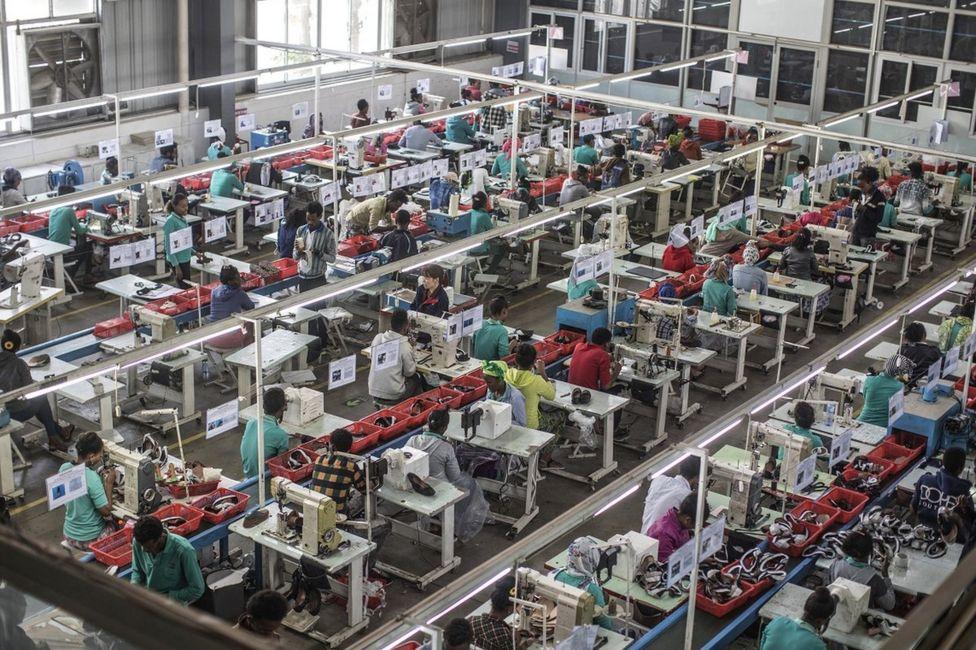 китайская фабрика в Эфиопии