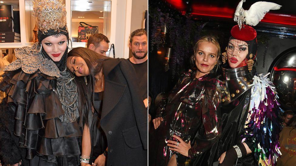 Daniel Lismore, Naomi Campbell and Eva Herzigova