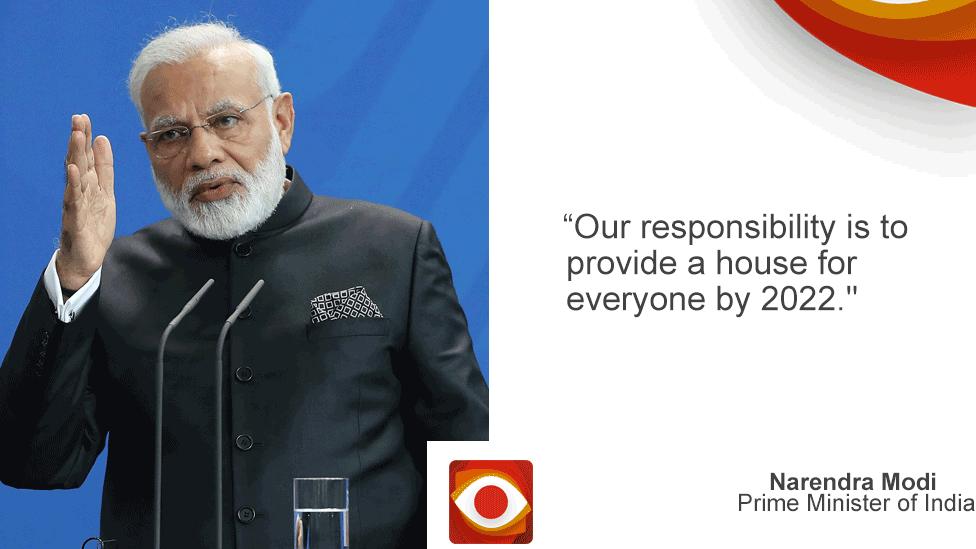 Modi quote card
