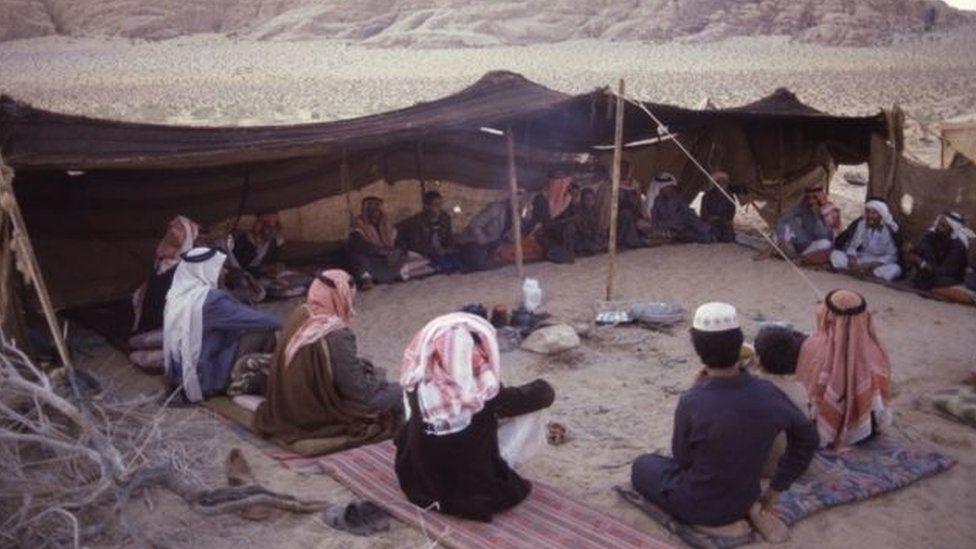 Bani Huwaitat and their ancestral lands in southern Jordan, close to the Saudi border