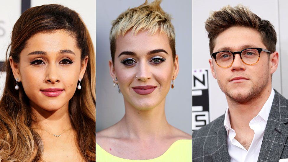 Ariana Grande, Katy Perry and Niall Horan