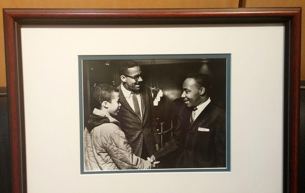 Gregory Sleet meeting Martin Luther King with Moneta Sleet
