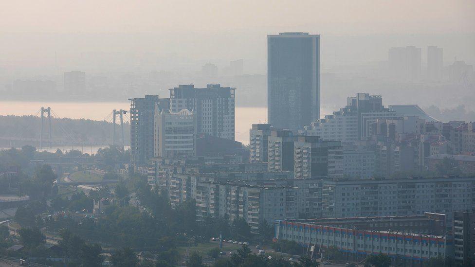 Дым от пожаров в Красноярске