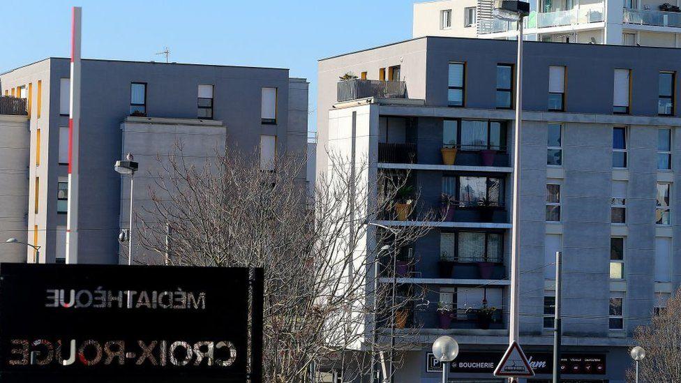 Apartment buildings seen in image of Croix Rouge Reims neighbourhood