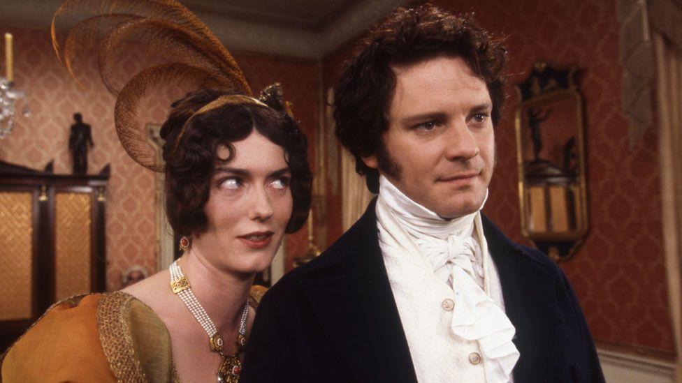 Anna Chancellor and Colin Firth in Pride and Prejudice